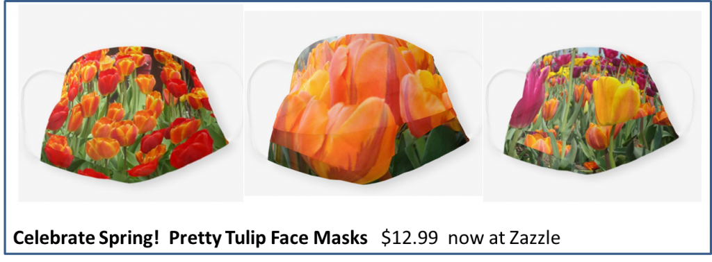Pretty Tulip Face Masks